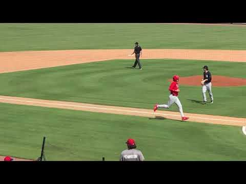 Luke Miller Lines A Double In Fall Instructional League Play