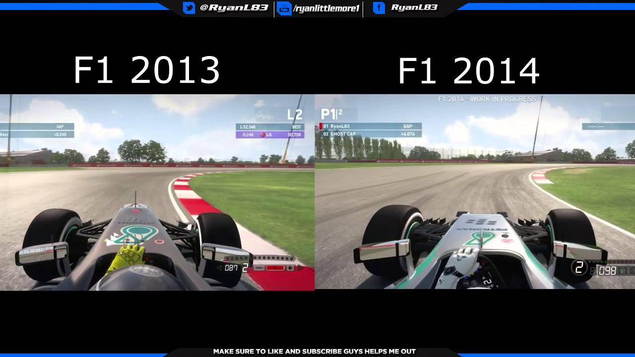 F1 2014 Vs F1 2013 Gameplay Comparison