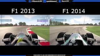 F1 2014 Vs F1 2013 Gameplay Comparison