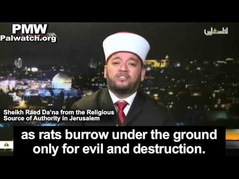 "Palestinian cleric: Israel digs under the Al-Aqsa Mosque like ""rats burrow under the ground"""