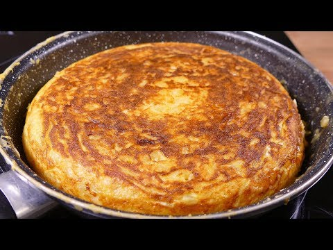 Tasty Spanish Potato Omelette - Cooking Easy Food Recipes For Dinner To Make At Home