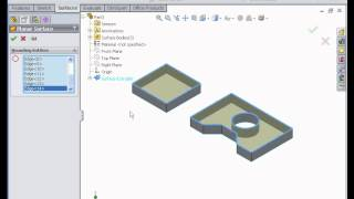 How to Work With Planar Surfaces  SOLIDWORKS Tutorials Surface Design & Modeling