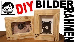 DIY Paletten Bilderrahmen einfach und zum selber machen Palettenholz Bilderrahmen selber bauen