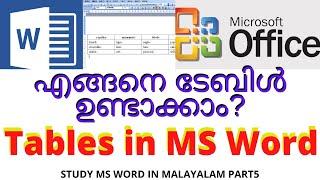 ടേബിൾ ഉണ്ടാക്കിയാലോ? | How to Create Table in Word|Tables in MS Word Malayalam|IdealExpress