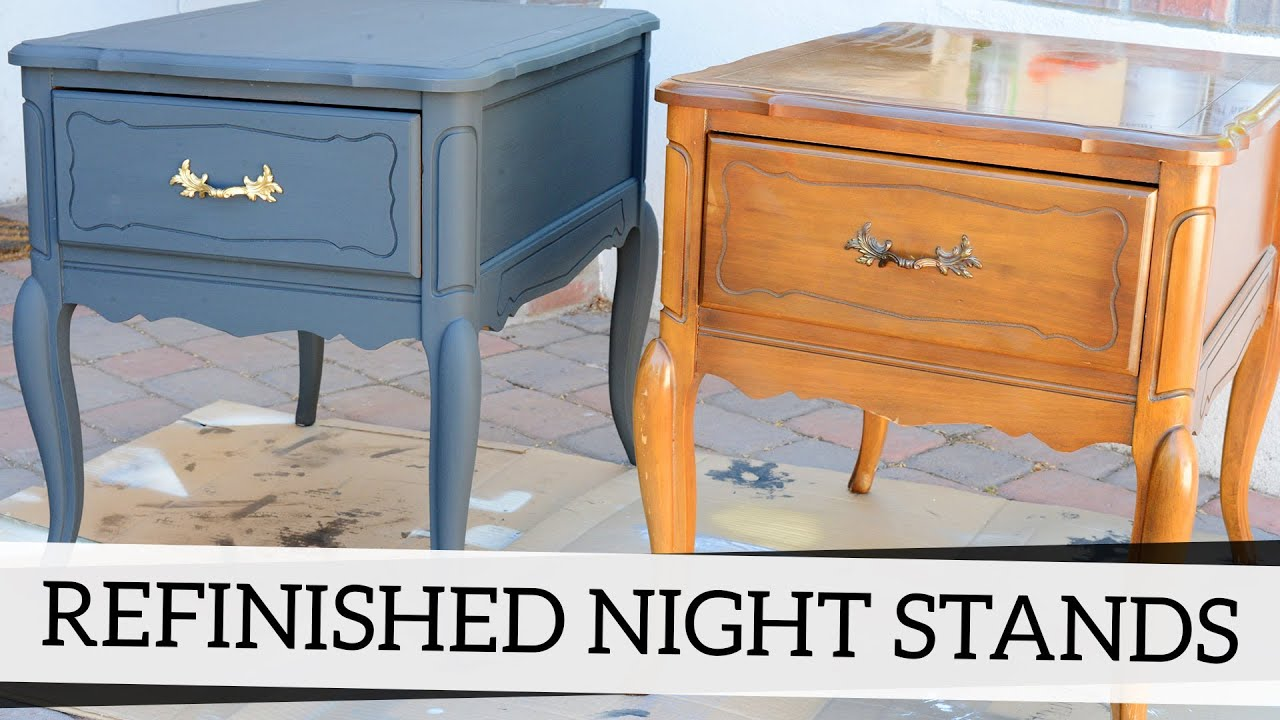 Painting Bedroom Furniture Black Refinished Nightstands With Annie Sloan Chalk Paint Youtube