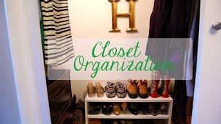 Organizing Our Awkward + Angled Closet: Phase 1