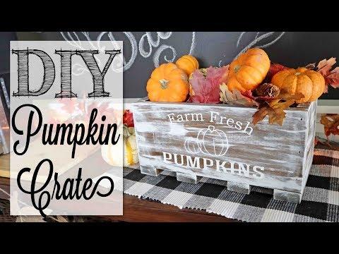 DIY Farmhouse Pumpkin Crate