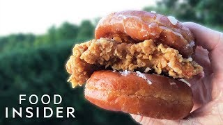 KFC Fried Chicken & Donuts Sandwich Review