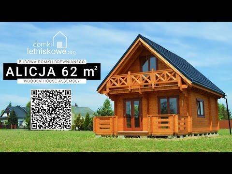 Budowa domku drewnianego Alicja / Wooden house assembly