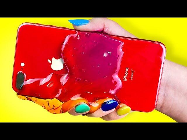 CUIDADO con el iPHONE 8 ROJO de LAVA!🔥 Trucos y Abriendo el Cel