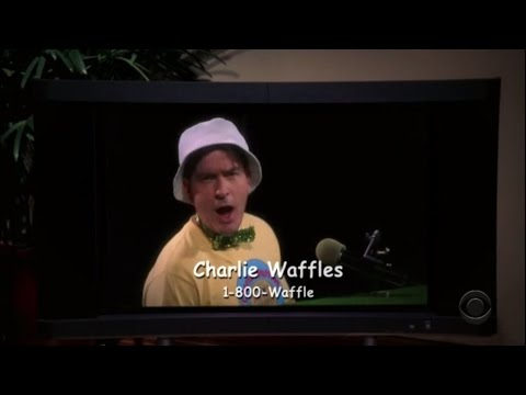 Two and a Half Men - Charlie Waffles Commercial [HD]