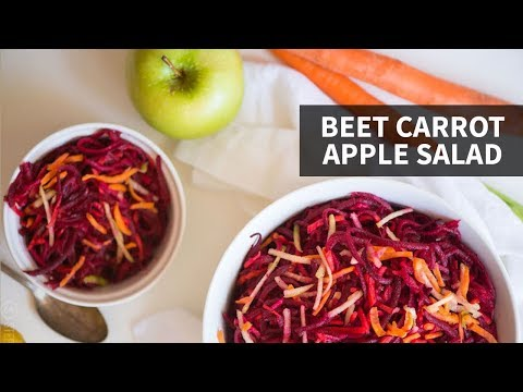 BEET CARROT APPLE SALAD: Low Carb + Paleo