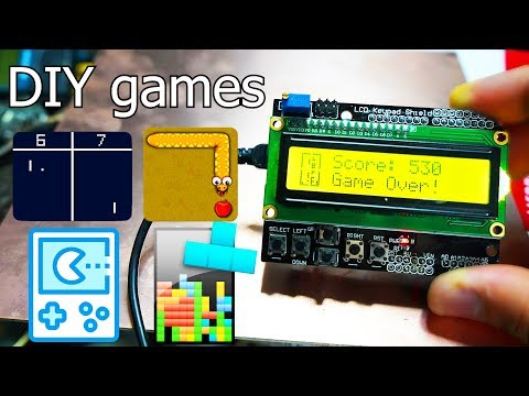 4 Amazing Arduino Games - DIY Game Console