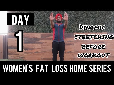| DAY 1 | Women's FAT LOSS workout  for home in hindi
