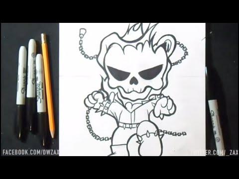 Comment dessiner ghost rider youtube - Dessin de ghost rider ...