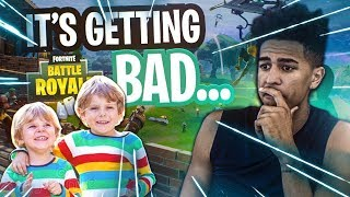 HELPING My 8 Year Old Teammates get a WIN! The Clout Getting to Joey! Fortnite Battle Royale
