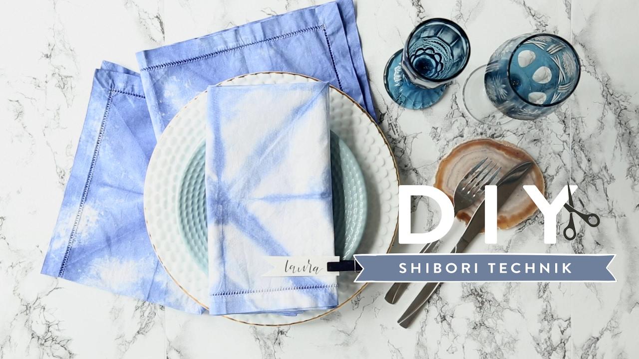 shibori-technik | westwing diy-tipps - youtube