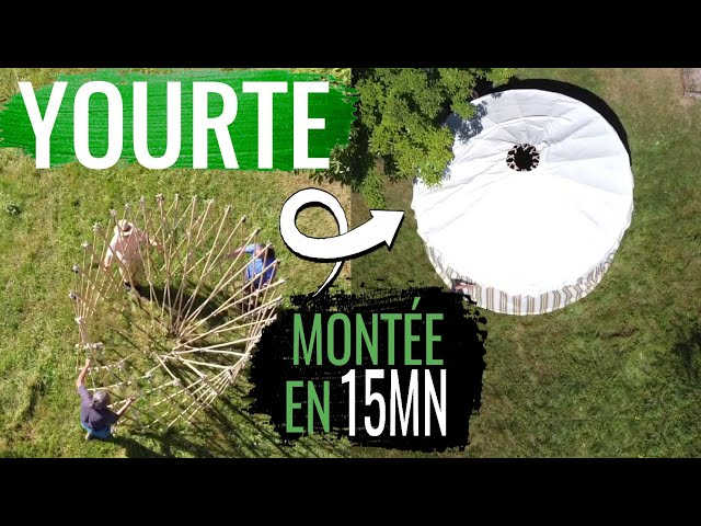 Une yourte DIY, ultra-RAPIDE à monter