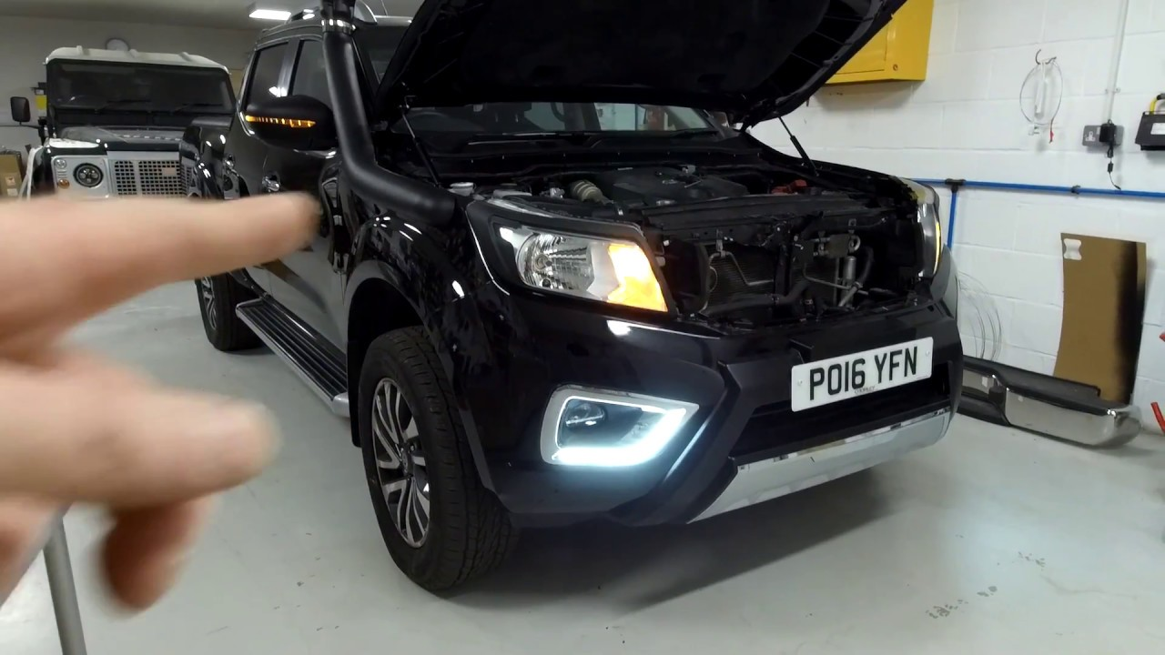 spotlight wiring diagram nissan navara demo   how to fit nissan navara np300 drl led fog light surrounds  demo   how to fit nissan navara np300