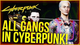 Cyberpunk 2077 Lore - All Gangs in Night City Explained!