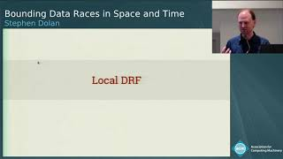 Bounding Data Races in Space and Time