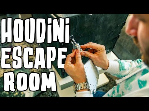 Solving The Houdini ESCAPE Room!!