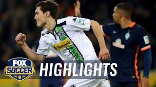 Christensen's brace gives Gladbach 3-0  lead vs. Werder Bremen   2015–16 Bundesliga Highlights