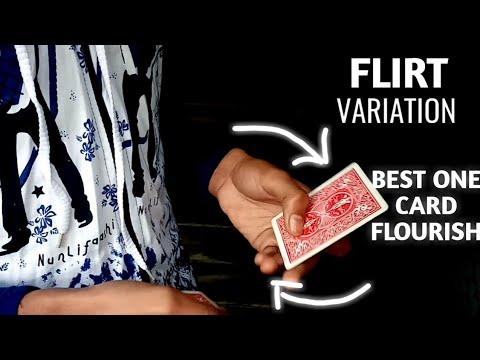 Cardistry Tutorials Flirt Variation Tutorial| Dan And Dave Buck|One Card Flourish