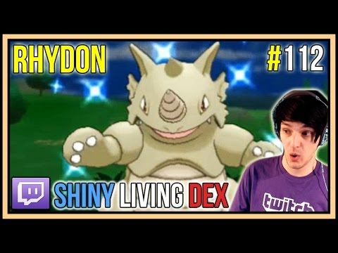 [LIVE] SHINY RHYDON REACTION! | Shiny Living Dex #112 | Pokemon X And Y