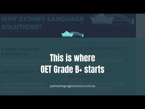 Sydney Language Solutions OET Promotion Video