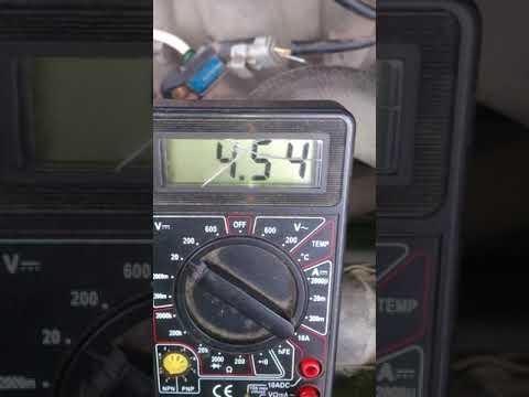 проверка Датчика Абсолютного Давления (ДАД, MAP Sensor) Peugeot 406