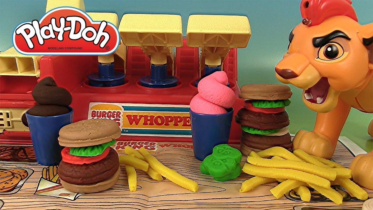 Pate A Modeler Play Doh Burger King Menu Whopper Youtube