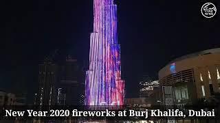 Burj Khalifa fireworks light up the sky welcome 2020
