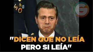 Peña Nieto:  No es cierto que lea poco (sobre el episodio de la FIL)