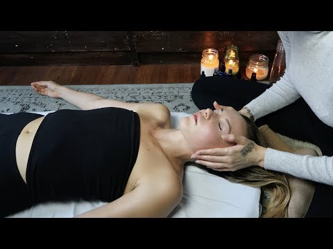 ASMR  relaxing massage for sleep + reiki (whisper & soft spoken)