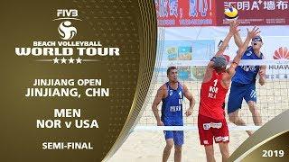 Men's Semi-Final 1 - NOR v USA - FIVB Beach Volleyball World Tour - Jinjiang (CHN) - 4* thumbnail
