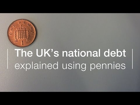 UK national debt explained using pennies