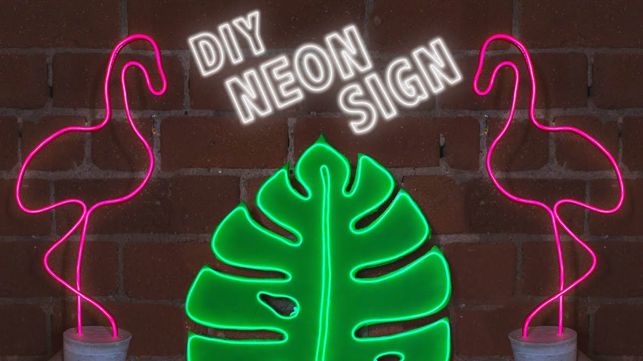 DIY NEON SIGNS FOR YOUR DORM/ ROOM - YouTube