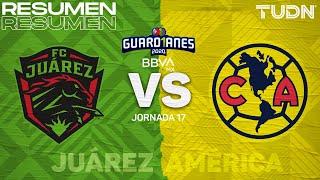 Resumen y goles  | FC Juárez vs América | Guard1anes 2020 Liga BBVA MX - J17 | TUDN