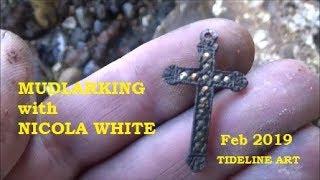 Mudlarking on the River Thames - Cross & Sacred Heart