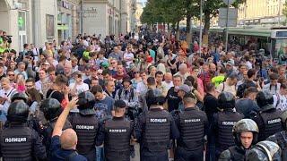 Митинги в москве настоящее время