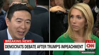 CNN Post-Debate Interview with Andrew Yang (Dec 19, 2019)