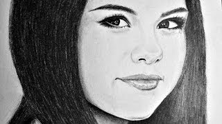 Chris samba sketching realistic drawing of selena gomez art, sketch, sketching, drawing, draw, eye, eyes, artist, speed, painting, paint, photo, photoshop, p...