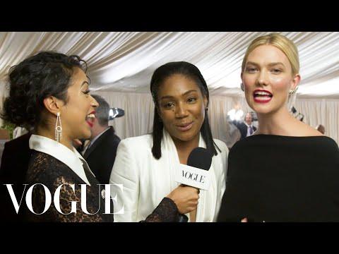 Tiffany Haddish and Karlie Kloss on Dancing With Michael B. Jordan   Met Gala 2018 With Liza Koshy