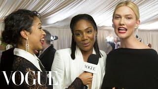 Tiffany Haddish and Karlie Kloss on Dancing With Michael B. Jordan | Met Gala 2018 With Liza Koshy