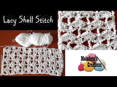 Lacy Shell Stitch - Crochet Tutorial - YouTube