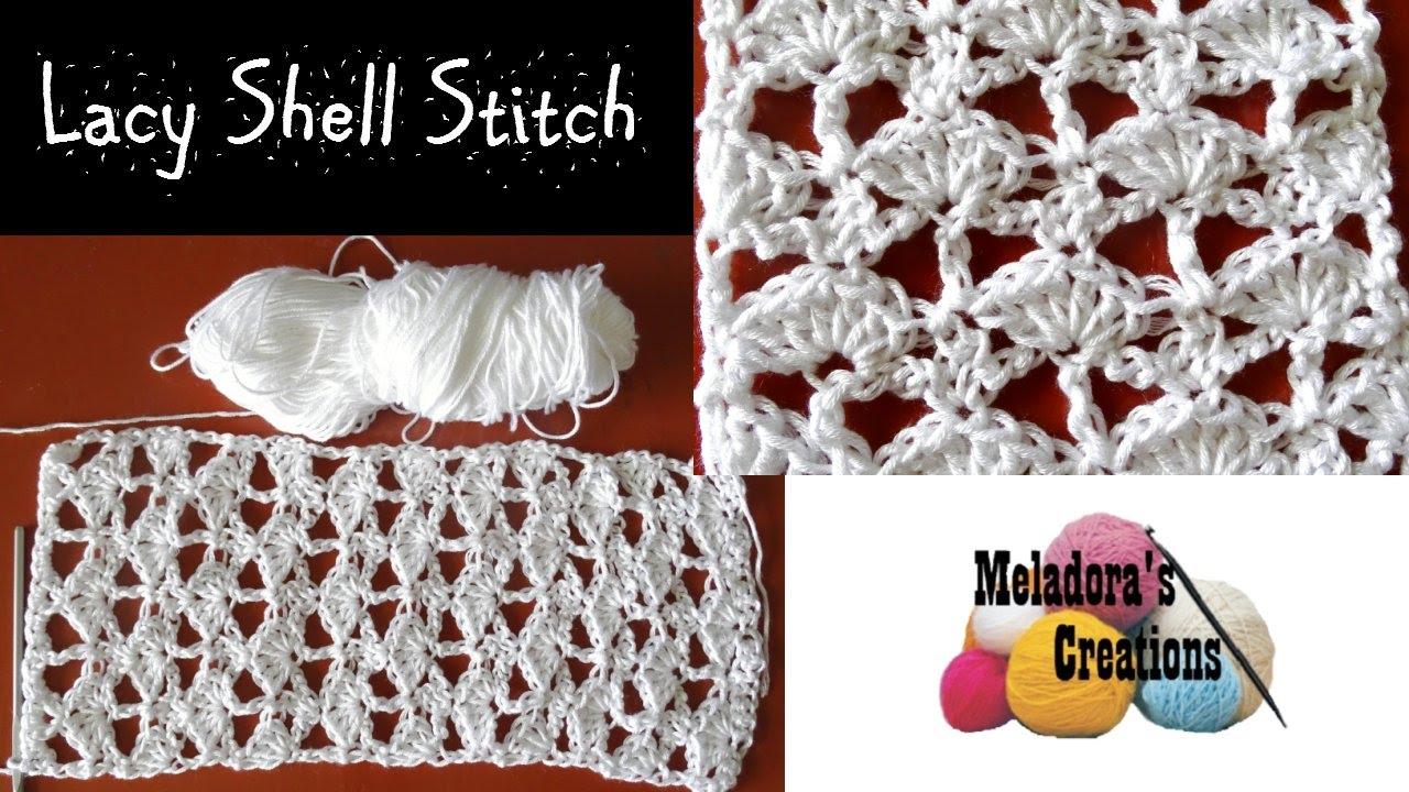 Lacy Shell Stitch - Crochet Tutorial - YouTube