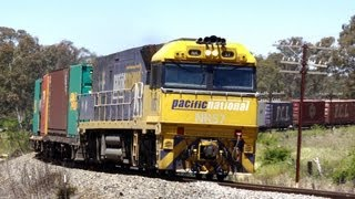Australian Freight Train at Great Western, Victoria