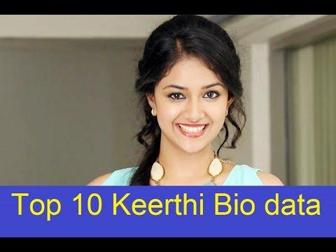 Top 10 Keerthi Suresh Bio Data