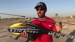 Tareq Alsaadi the new Goblin 570 sport with normal headspeed not the maximum